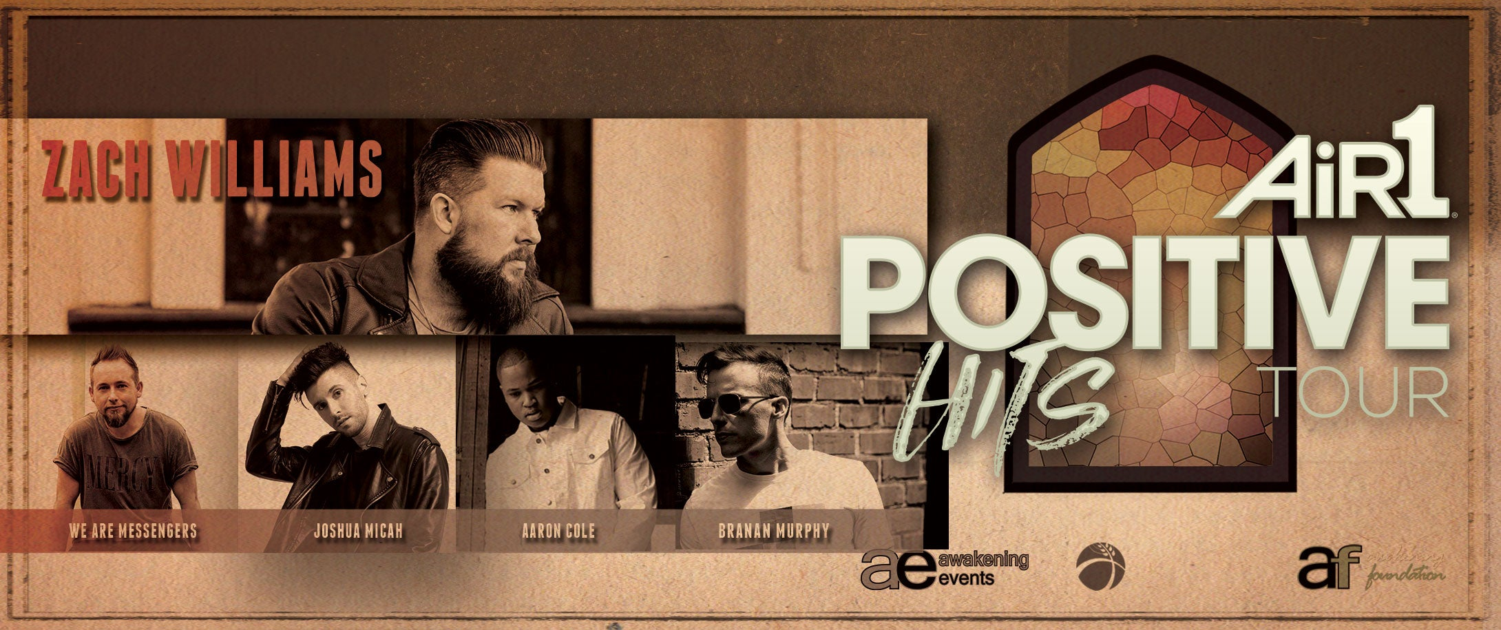Air1 Positive Hits Tour Featuring: Zach Williams