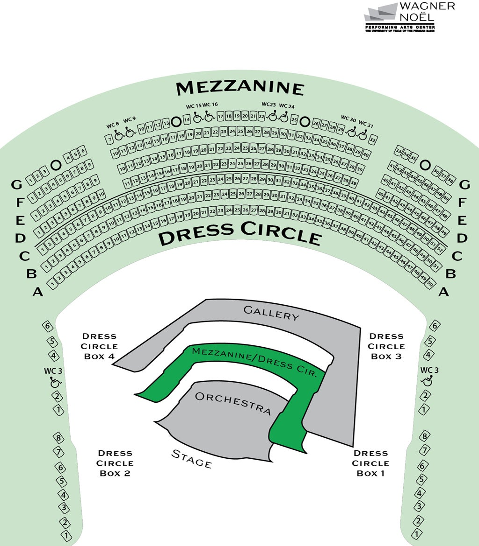 DRESS CIRCLE MEZZANINE SEATING